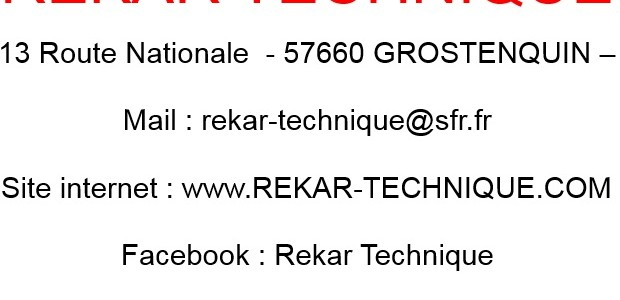 [Sponsor] Rekar Technique